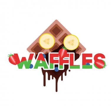 Sweet Waffles with fruits
