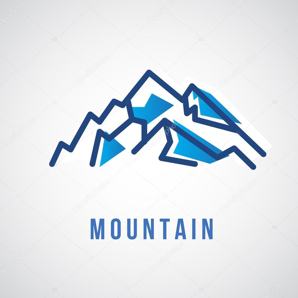 Mountain logo, travel icon