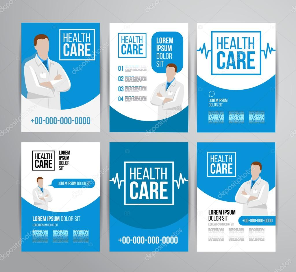 Healthcare brochure for clinic with doctors Vector – Healthcare Brochure