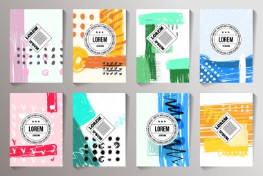 Set of Creative Cards backgrounds