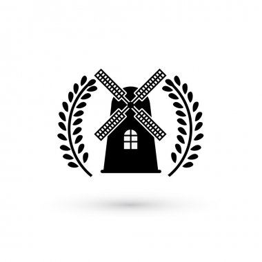 Windmill silhouette or sign