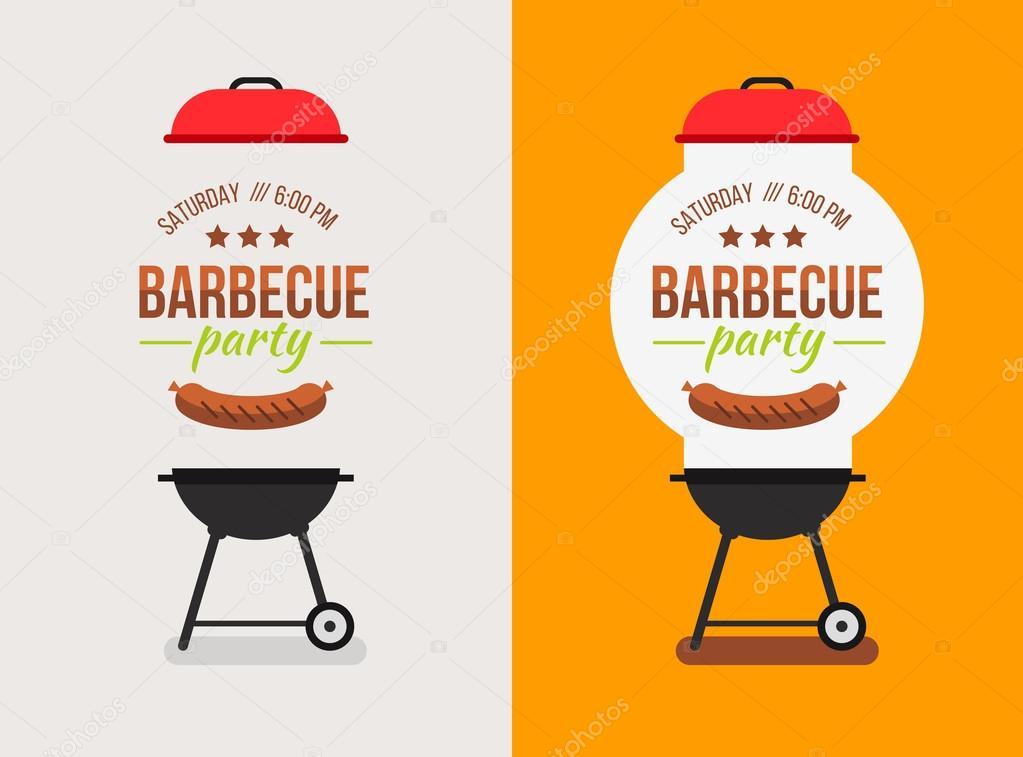 bbq or barbecue party invitation stock vector alejik 77295756