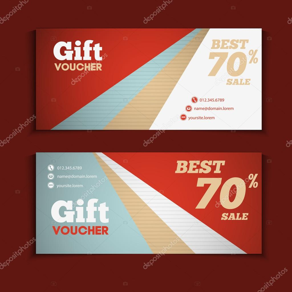 Two coupon voucher design — Stock Vector © alejik #98163762