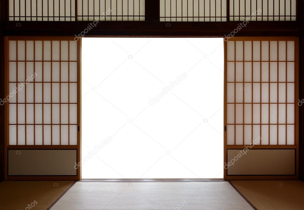 Traditionellen Japanischen Reis Papier Und Holz Türen Und