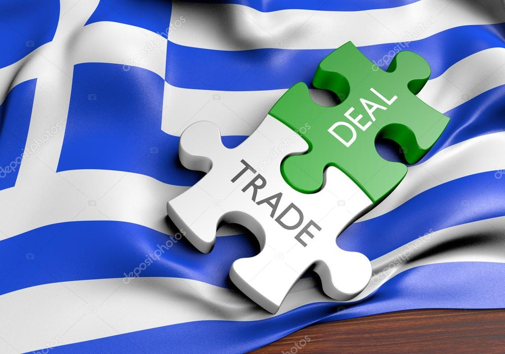 Greece Trade Deals And International Commerce Concept 3d Rendering