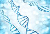 Fotografia Filamenti genetici delle molecole del Dna amplificati