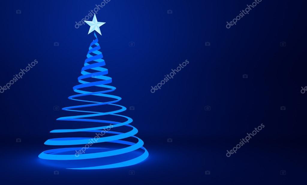 Cinta azul estilizada dise o del rbol de navidad fondo - Cinta arbol navidad ...