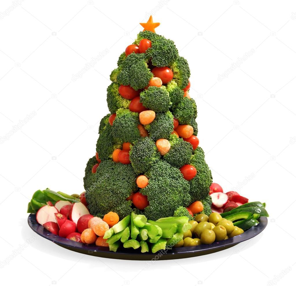 Christmas Tree Veggie Tray.Pic Christmas Tree Homemade Vegan Holiday Vegetable