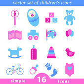 Fotografie baby icon collection. Vector images in a planar graph.