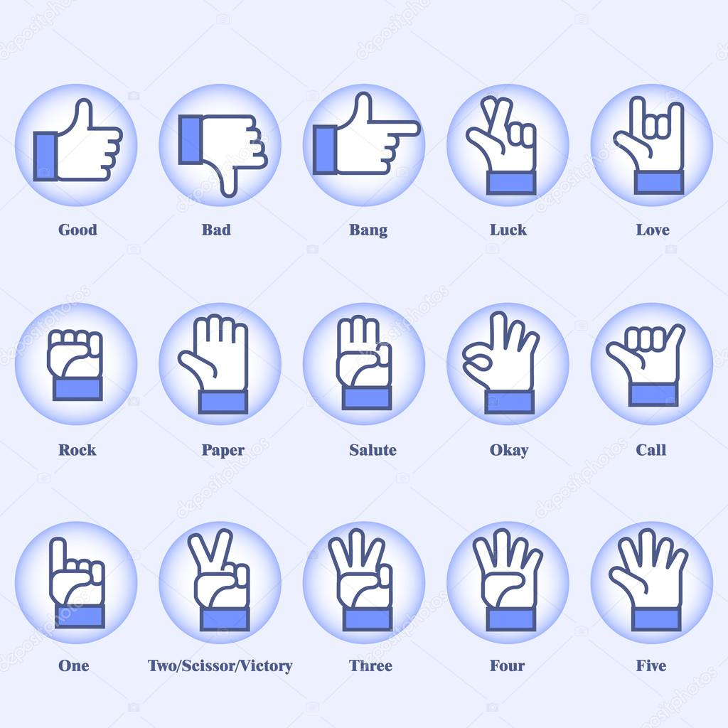 15 hand signs