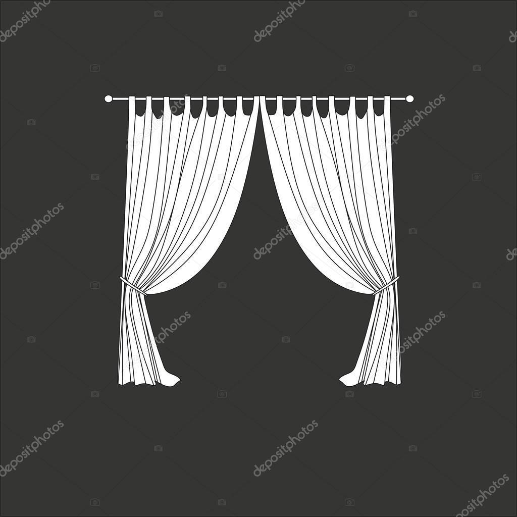 Klassische Gardinen vorhänge klassische gardinen lambrequin stockvektor anytaktlv