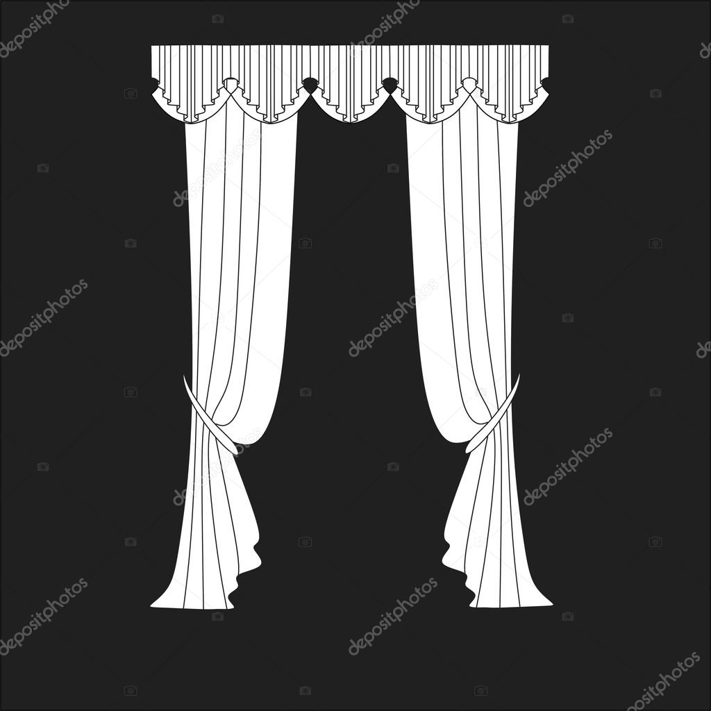 Klassische Gardinen klassische gardinen fenster dekoration stockvektor anytaktlv