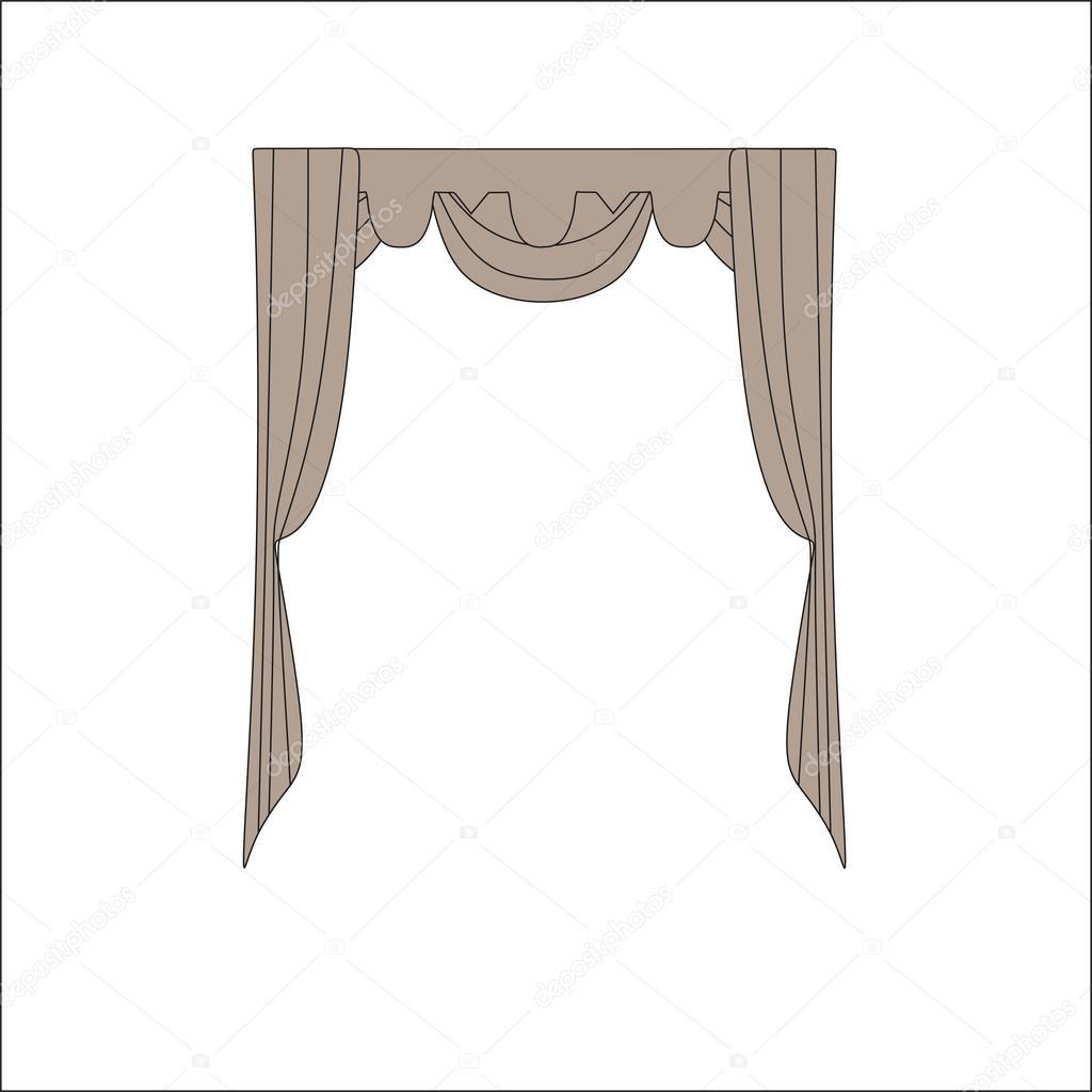 Innendekoration vorh nge gardinen interior design skizze for Js innendekoration
