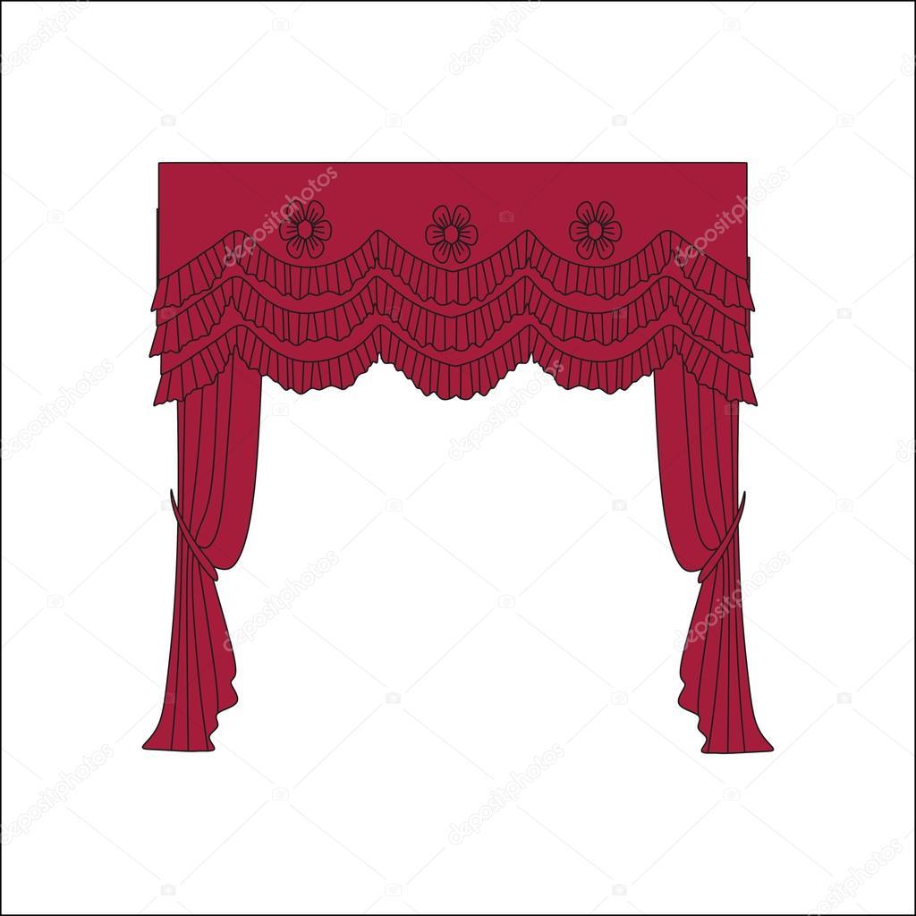 Klassische Gardinen klassische gardinen vorhänge skizzieren vorhänge stockvektor