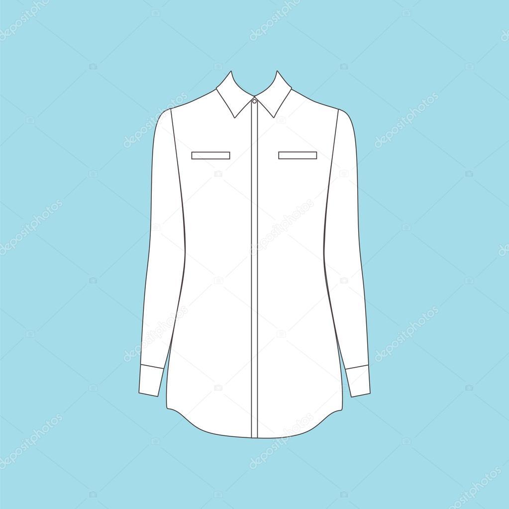 bf83a9d9a803 Γυναικεία ρούχα. καθημερινό ντύσιμο. πουκάμισο — Διανυσματικό Αρχείο ...
