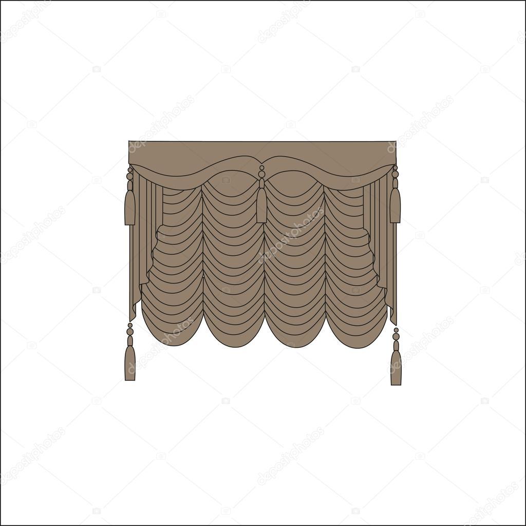 interieurtextiel raamdecoratie gordijnen stockvector