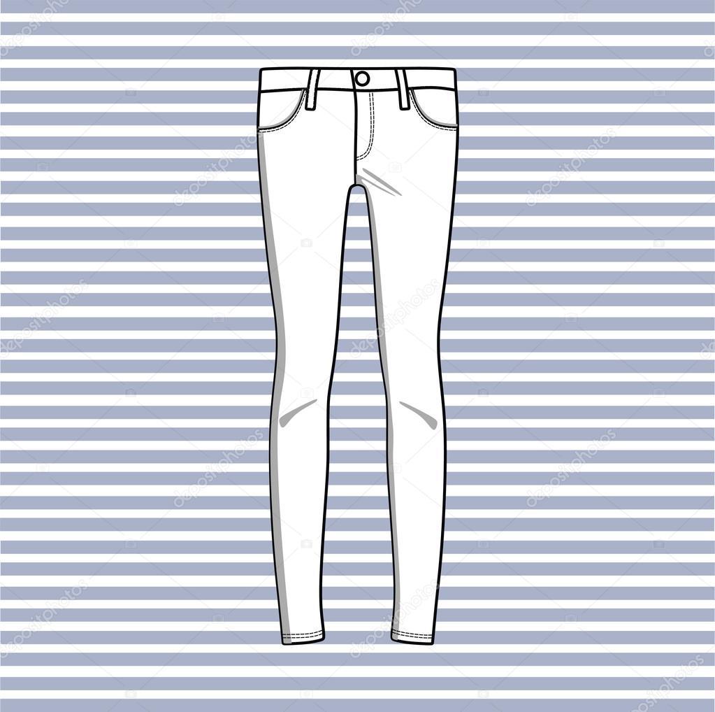 aef852ec0653 Παντελόνι. καθημερινό ντύσιμο. Παντελόνια γυναικεία — Διανυσματικό Αρχείο