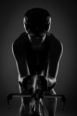 Female Triathlete on bicycle