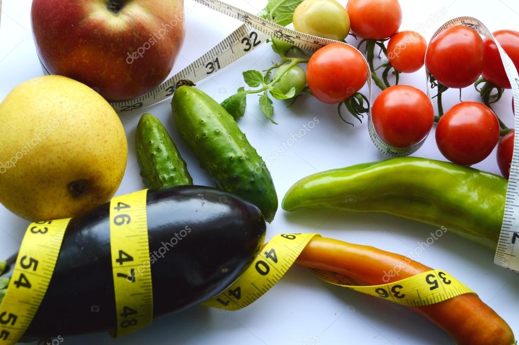 Admirable Vegetables And Fruits For Weight Loss With A Measuring Tape Download Free Architecture Designs Scobabritishbridgeorg