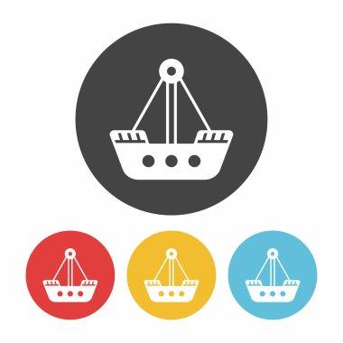 amusement park pirate ship icon vector illustration