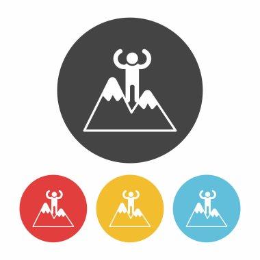 climbing icon vector illustration