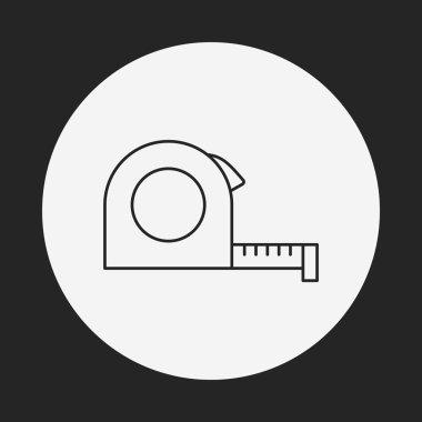 Measuring tape line icon clip art vector