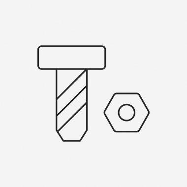 screw line icon