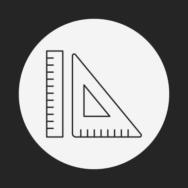 Triangle ruler line icon