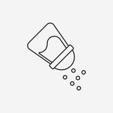 sauce bottle line icon