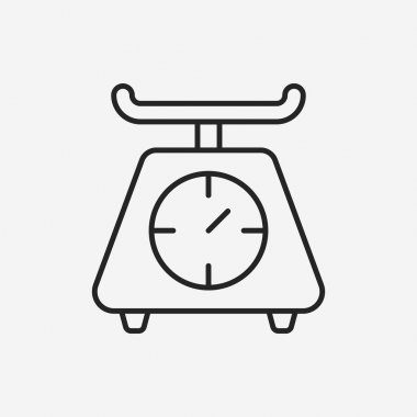 Weighing machine line icon