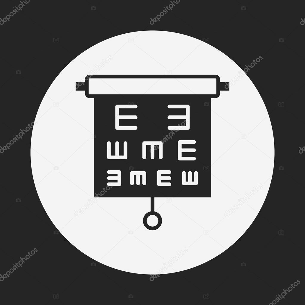 Eye chart icon stock vector vectorchef 74176461 eye chart icon stock vector geenschuldenfo Image collections