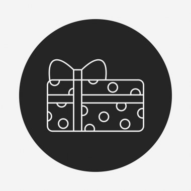 baby toy gift line icon