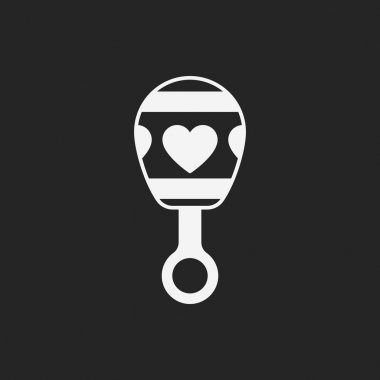 Baby rattle icon