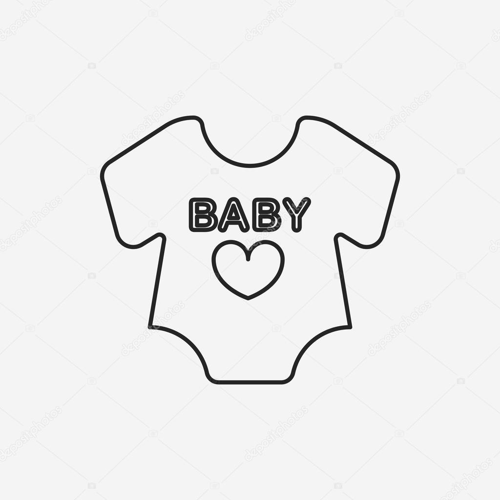 icono de línea de ropa de bebé — Vector de stock © vectorchef  74184773 dd383066d911