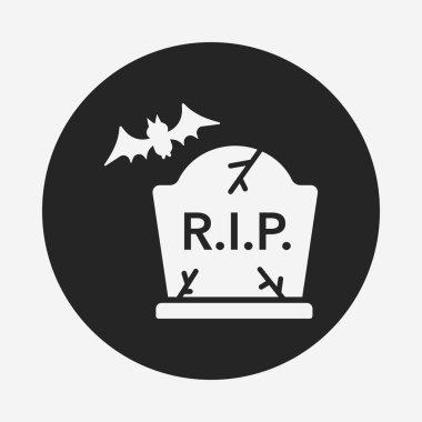 halloween grave icon