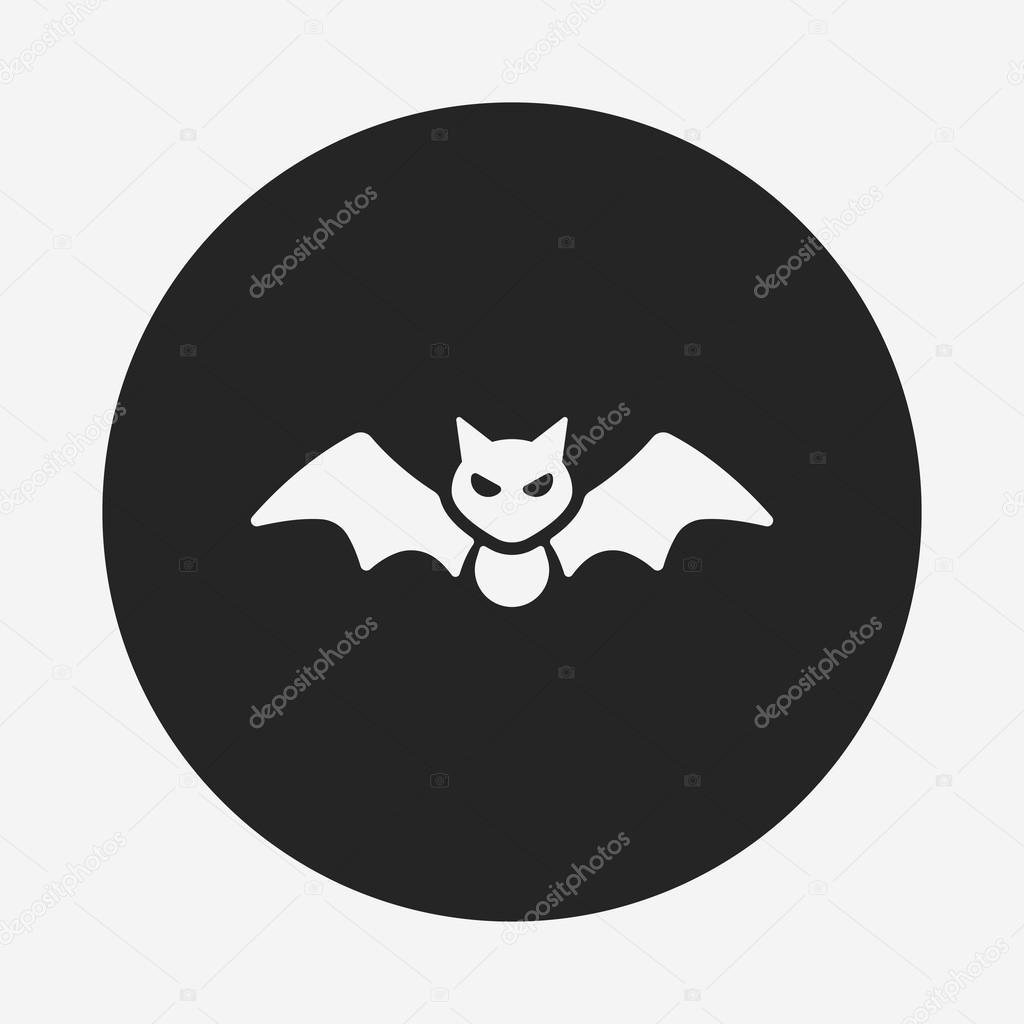 halloween bat icon u2014 stock vector vectorchef 74386741