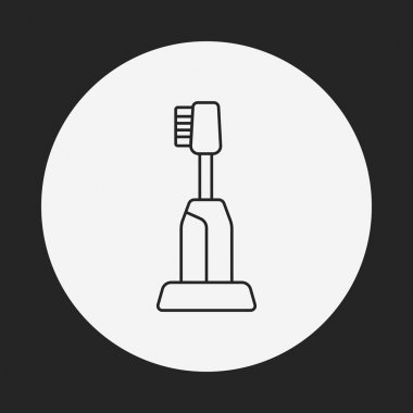 tooth brush line icon