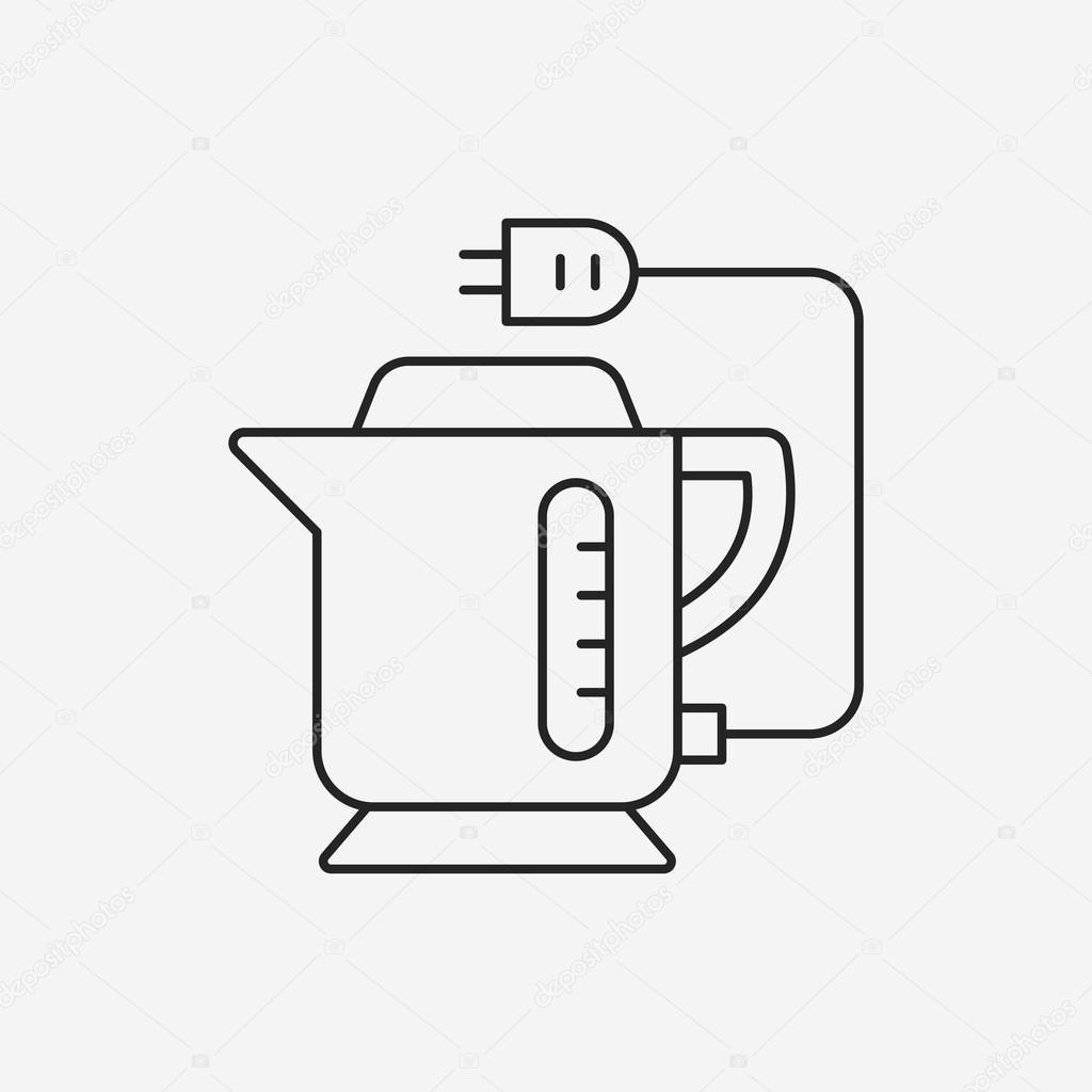 Elektrischer Wasserkocher Symbol — Stockvektor © vectorchef #75707783