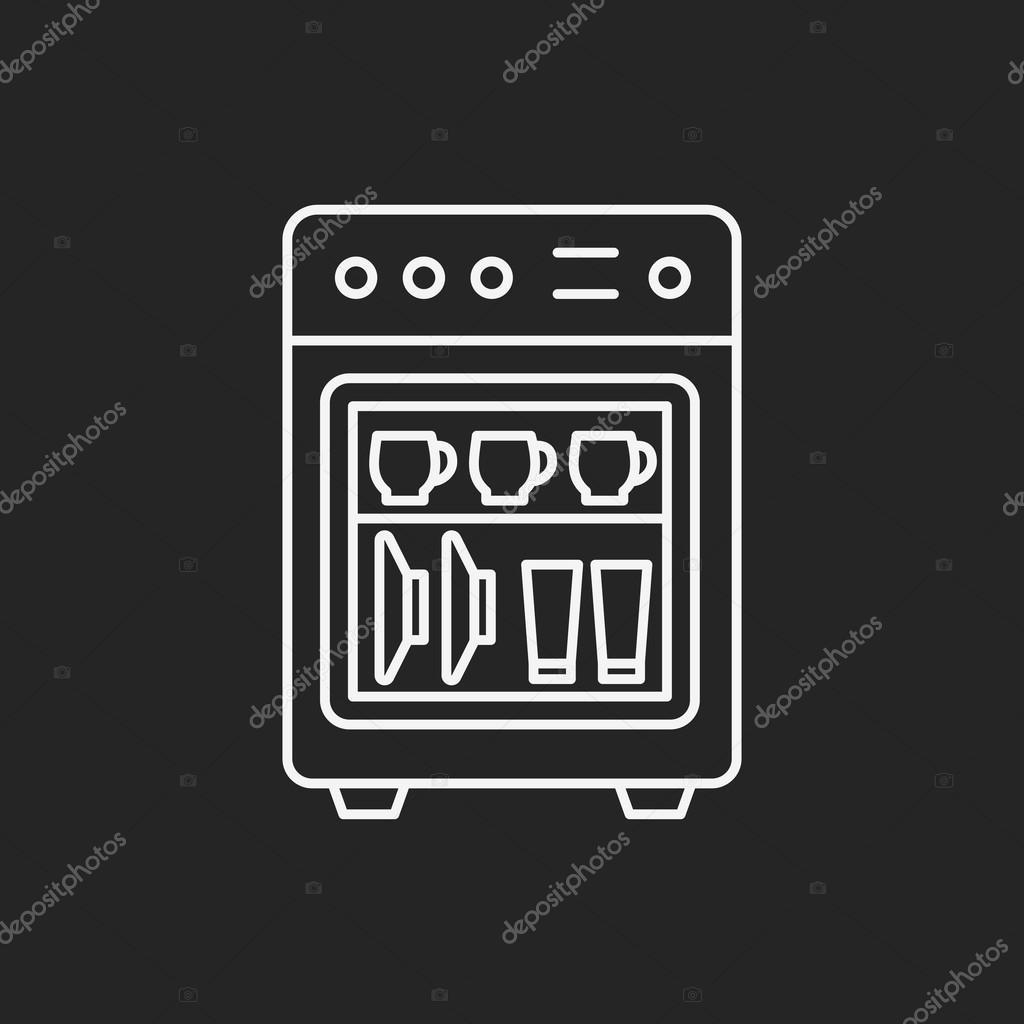 dishwasher line icon