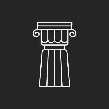 Architectural sculpture line icon