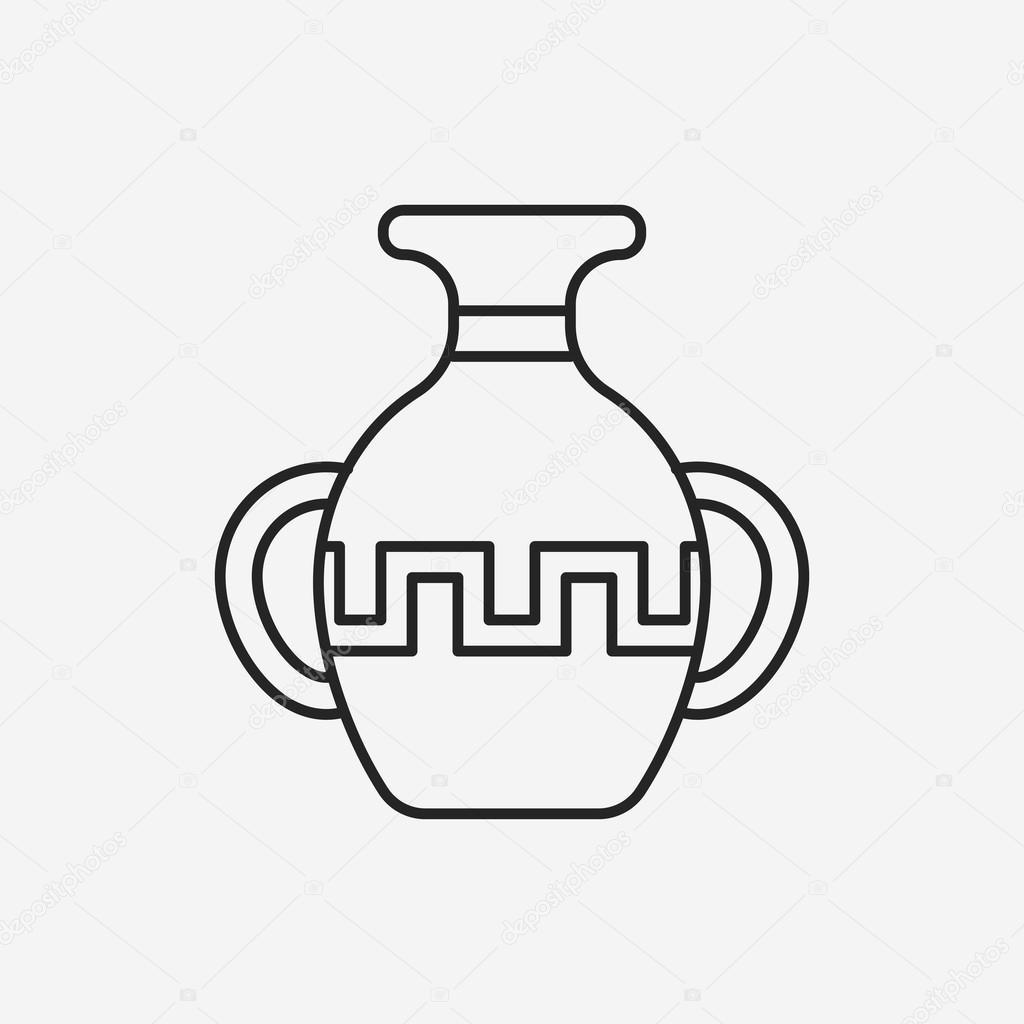 icône de ligne poterie — Image vectorielle vectorchef © #76683883