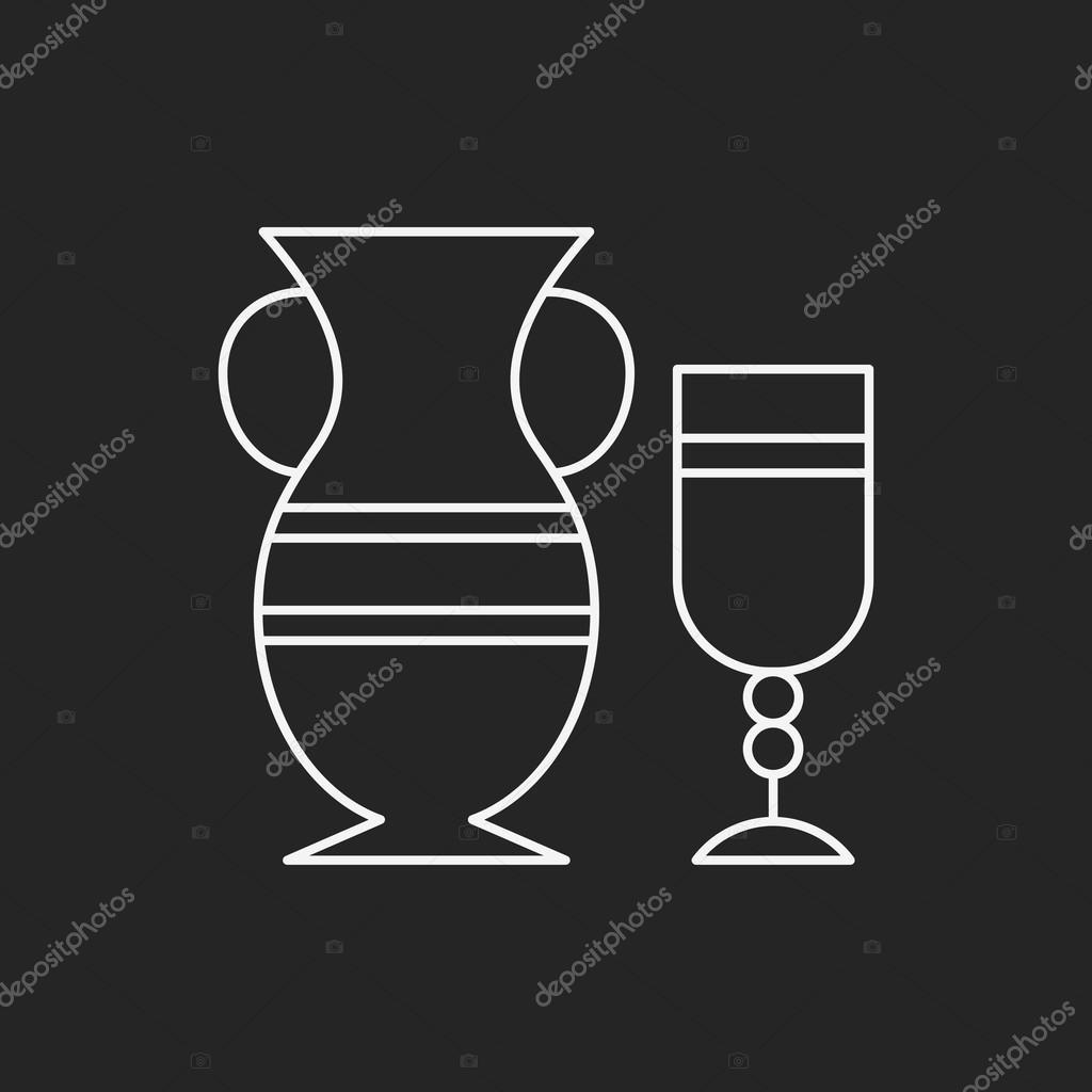 icône de ligne poterie — Image vectorielle vectorchef © #76684157