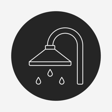 Shower heads line icon