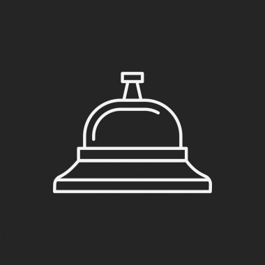 Service bell line icon