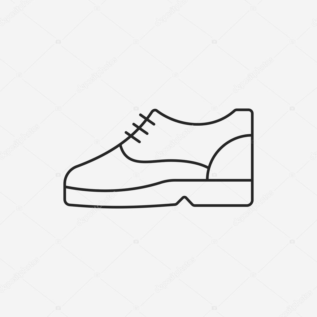 靴ライン アイコン \u2014 ストックベクタ
