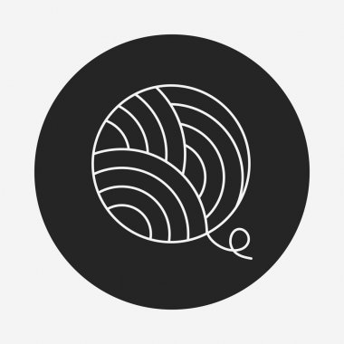 Yarn ball line icon