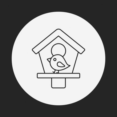 bird cage line icon