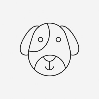 pet dog line icon