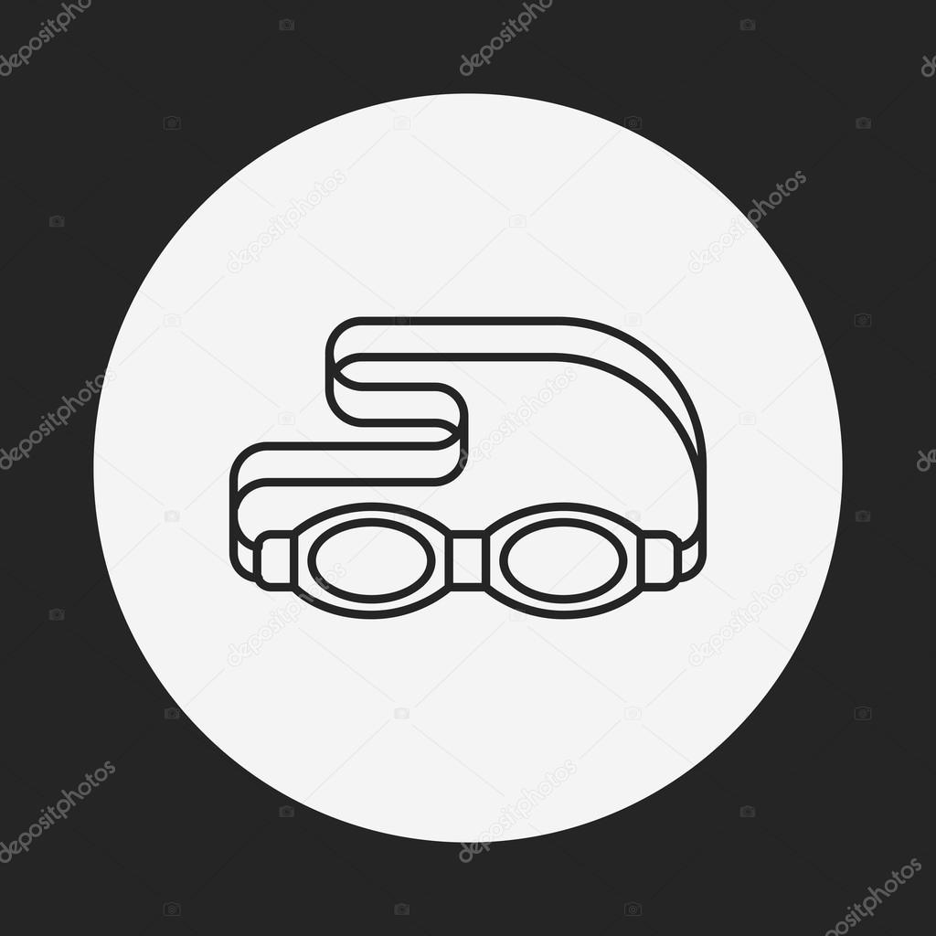 73fbd6b0bca1a2 Lunettes de protection ligne icône — Image vectorielle vectorchef ...
