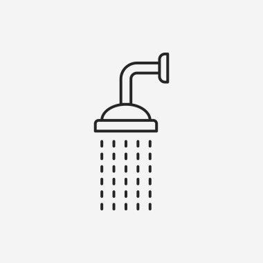 Showerheads line icon